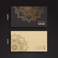 Elegant corporate card with ornaments. Download thousands of free vectors on Freepik, the finder with more than a million free graphic resources
