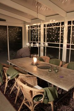 Closed In Porch, Conservatory Interiors, Us White House, Interior And Exterior, Interior Design, Glass Room, Outdoor Living Areas, Dining Table, Furniture