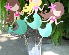 Large Mermaid Party Center Piece or Table Topper LISTING IS FOR 1