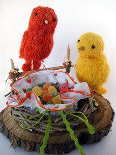 Knitted Birds for Mother's day