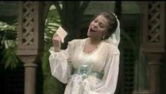 "Kathleen Battle as Rosina in ""The Barber of Seville"" Kathleen Battle, Jessye Norman, The Barber Of Seville, Metropolitan Opera, Opera Singers, African American Women, Classical Music, Style Icons, Wedding Dresses"