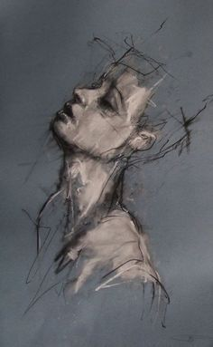 Drawing Portrait Guy Denning- structure of the human body, quick harsh brush strokes. I like the neutral colour palette - Guy Denning Life Drawing, Figure Drawing, Painting & Drawing, Human Body Drawing, Drawing Drawing, Figure Painting, Drawing Reference, Drawing Sketches, Art Et Illustration