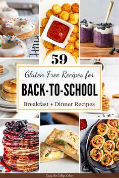 Need some #backtoschool #glutenfree breakfast & lunch recipes? Your whole fam will love this round up! #Keto, #vegan, #paleo & #sugarfree options.