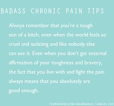 Chronic Pain is Pretty Fucking Hardcore : Photo