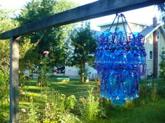 DiY chandelier with plastic glass, TUTO