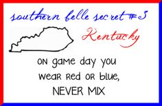 So true! This year if U of L loses red will be disappointed, but if UK loses, blue will be suicidal! Sorry, Lynz!