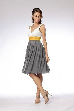 Gray, White, and Yellow dress