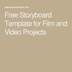 Blank Storyboard Template  Writing    Storyboard