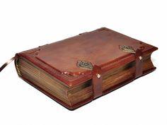 Brown Handmade leather journal 8.1''x5.7'' 205x145 cm por dragosh, $125.00