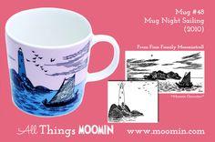 Moomin mug Night Sailing by Arabia - Moomin Moomin Mugs, Tove Jansson, Marimekko, Finland, Sailing, Childhood, History, Night, Tableware