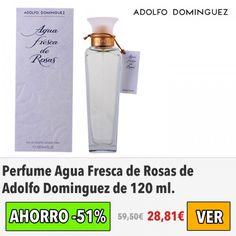 Un #perfume que nunca pasa de moda. Agua Fresca de Rosas de Adolfo Dominguez. Solo 28€