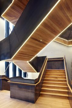 """The Bartlett School of Architecture now has a new HawkinsBrown-designed facility in central London featuring a staircase designed as a """"social generator"""" and studios with no doors."""