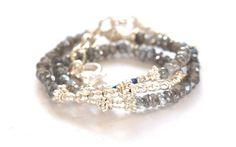 Labradorite gemstone bracelet - Vivien Frank Designs