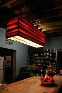 heartpine modern industrial chandelier by matthewholdren on Etsy, $850.00