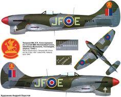 Hawker Tempest di Pierre Closterman https://it.pinterest.com/pin/524599056573750854/