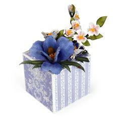 Quince, Columbine & Iris Gift Box, using Susan Tierney-Cockburn dies from Sizzix.