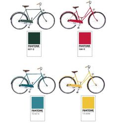 Bicycle manufacturer Abici Italia hand-makes Italian steel-framed bicycles in PANTONE colors for your riding pleasure.