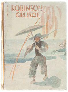 Daniel Defoe's Robinson Crusoe, designed by Karl Mühlmeister.