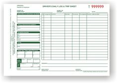 Truck driver log book | Trucking Industry | Pinterest