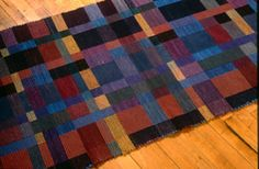 Rich and Warm handwoven rug  Debbie Cooter