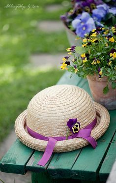 For kk!  Again, this is probably in our garden but for some reason I can picture you in that hat!