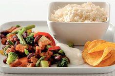 Mexicaanse tofu met groenten en rijst