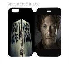 iPhone 6 Flip Case Cover Folio Don't Open Dead Inside Daryl Dixon Walking Dead #QuinnCafe