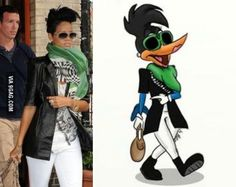 Rihanna vs Woodpecker