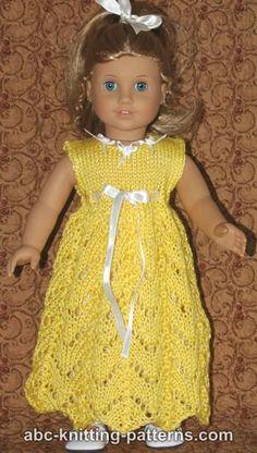 American Girl Doll Empire Waist Lace Dress