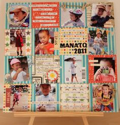 =d-family= スクラップブッキングin神戸 Smash Book, Collage, In This Moment, Album, Baseball Cards, Pattern, Crafts, Scrapbooking, Spring