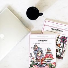 Wishing today is Friday? Treat yourself to our Whipped Adult Coloring Book  Yoga Kitties Adult Coloring Book... The perfect combo!
