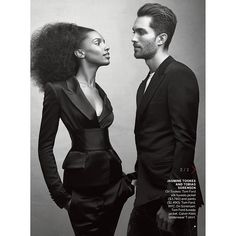 Jasmine Tookes & Tobias Sorensen Pose for Vogue Magazine #bwwm