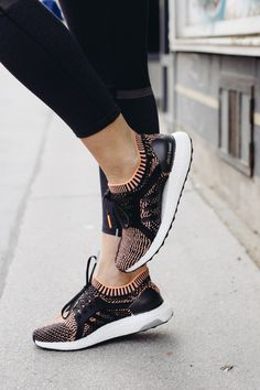 Adidas Ultra Boost women's sneakers 2017, active wear outfit | Bikinis & Passports