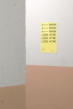 Catalogue and visual identity – Miami exhibition on Behance Storefront Signage, Visual Identity, Catalog, Miami, Behance, Graphics, Behavior, Corporate Design, Graphic Design