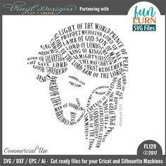 FL129 His Name Commercial Use SVG, DXF, EPS & Ai file for Cricut Design Space, Silhouette Studio Basic, Designer & Business editions.