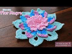 Vídeo aula Flor Mayra de #crochê