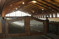 Indoor arena gate - pretty!