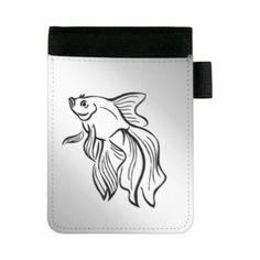 #fishing - #Siamese Fighting Fish Mini Padfolio