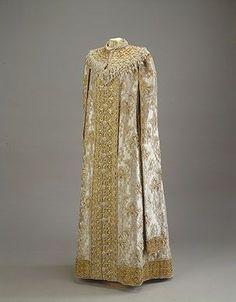 Boyarynya: Fancy Dress of Grand Duchess Xenia Alexandrovna  1903 St. Petersburg (?)  Silk, velvet, satin, golden brocade, imitation pearls, wire; embroidered The State Hermitage Museum: Exhibitions