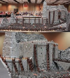 I want this lego set. 150,000 piece build of the battle of Helms Deep.