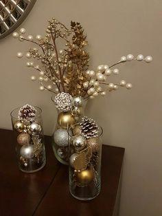 Cheap Christmas Home Decoration Weihnachten Cheap Christmas, Elegant Christmas, Cozy Christmas, Beautiful Christmas, Simple Christmas, Christmas Ornaments, Christmas Ideas, Ornaments Ideas, Christmas Crafts