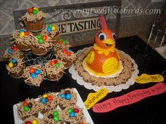 2 little birds: Nest cupcakes for Chica birthday party