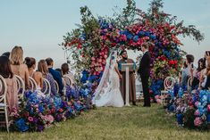 Beautiful Flower Arch and Aisle Decor for Outdoor Wedding Ceremony in Ibiza   By Kuenzli Photography   Ibiza Wedding   Multicultural Wedding   Outdoor Wedding   Destination Wedding   Villa Wedding   Amazing Wedding Flowers   Flower Arch   Wedding Flower Arrangements   Indian Wedding   Henna Ceremony   Pink Wedding Flowers   Purple Wedding Flowers   Blue Wedding Flowers   Luxe Wedding   Ibiza Wedding, Luxe Wedding, Wedding Film, Wedding Ceremony, Wedding Arches, Destination Wedding, Bright Wedding Flowers, Purple Wedding Flowers, Outdoor Wedding Destinations