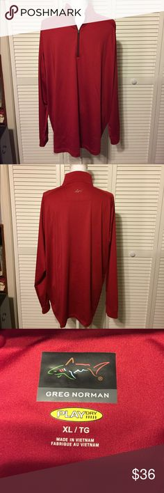 🔥GREG NORMAN NWOT🔥MENS RED PULLOVER SIZE XL Perfect condition NWOT. Greg Norman men's red pullover. Size XL Greg Norman Sweaters