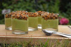 Verrines guacamole à la courgette et granola salé {Battle Food #22}