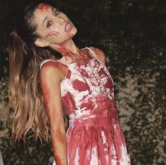 Check Out Hollywood's Top Sexy & Scary Celebrity Halloween Costumes! Carrie Halloween Costume, Best Celebrity Halloween Costumes, Halloween Inspo, Halloween Dress, Couple Halloween Costumes, Cute Halloween, Halloween Outfits, Zombie Bride Costume, Halloween Horror