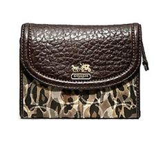 Coach Limited Edition Madison Animal Print Medium Wallet 46720 Brown Multi Coach. $158.99