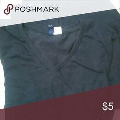 V neck T-SHIRT Bluish V neck T-SHIRT Bluish Divided Tops Tees - Short Sleeve