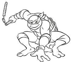 teenage mutant ninja turtles coloring page   kids   pinterest ... - Tmnt Michelangelo Coloring Pages