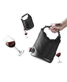 I have this and love it! Great for some 'Black Box' wine on the boat or while camping!  Just take the bladder out of the box and insert into the bag!  Menu Wine Tote, Baggy Wine Coat - Barware - Dining & Entertaining - Macy's (I got mine from Amazon- search 'wine coat baggy')
